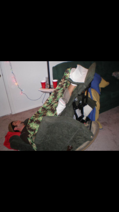 Sleeping flipped over