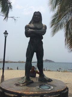 Native Statue Man